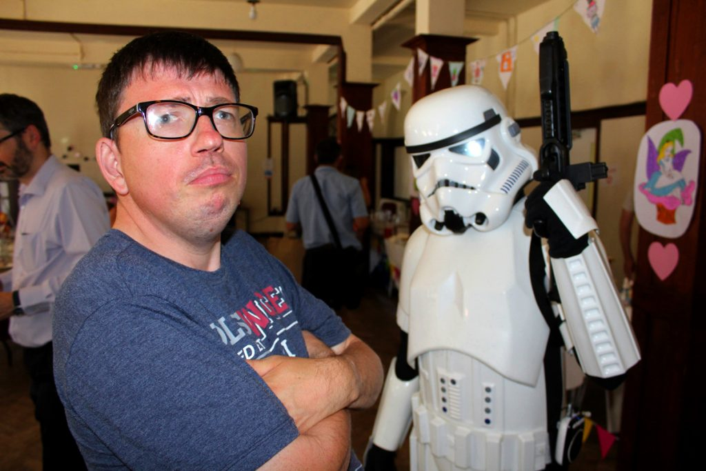Storm Trooper and person supported at Autism West Midlands