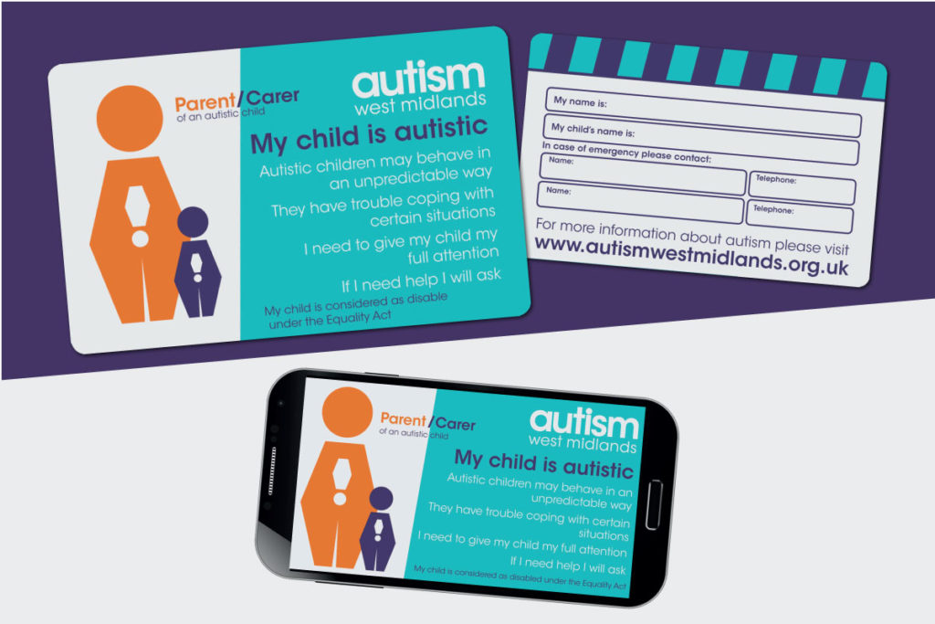 Image of the front and back side of the Parents Alert Card and the phone version