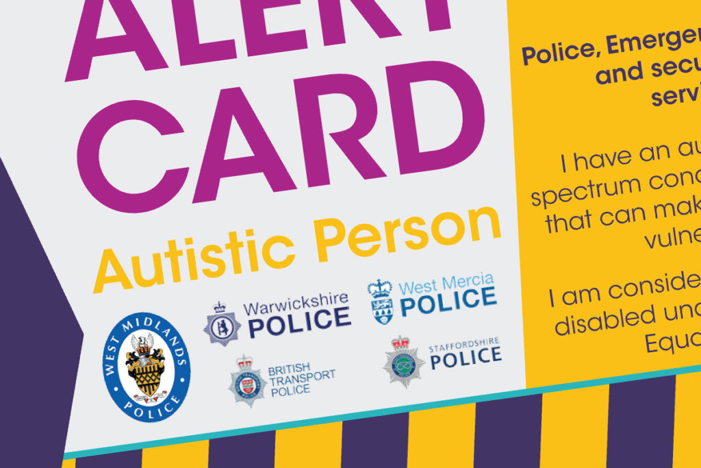 Close up of the alert card
